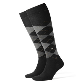 Burlington Wool socks man Edinburgh Black
