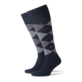 Burlington Socks man Preston Dark blue