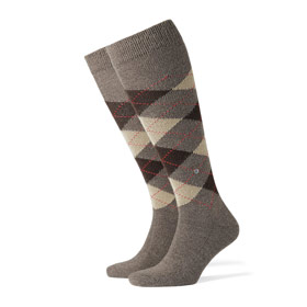 Burlington Socks man Preston Light brown