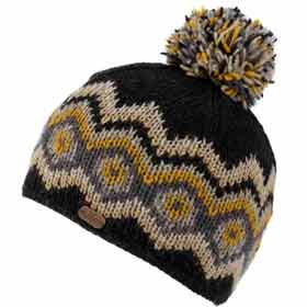 Kusan London Big Diamond Bobble wolle mütze