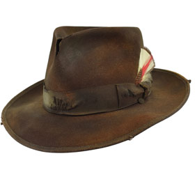 Cappello Fedora Johnny Depp Dusty Marrone
