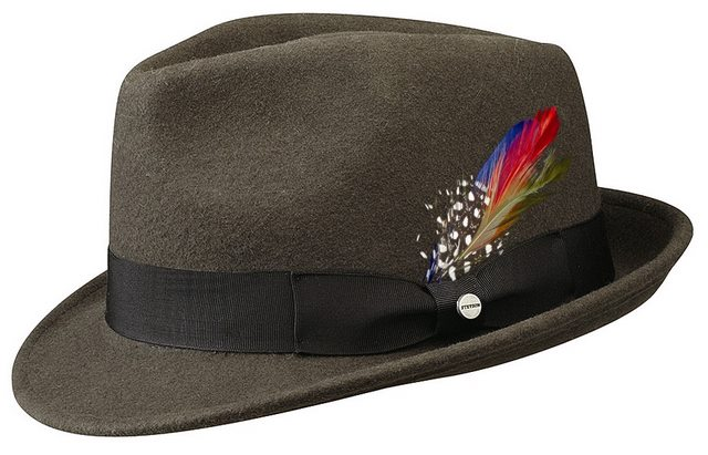 Stetson Richmond Trilby Hat Medium gray