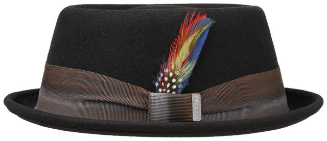 Stetson pork pie Avana woolfelt hat Black