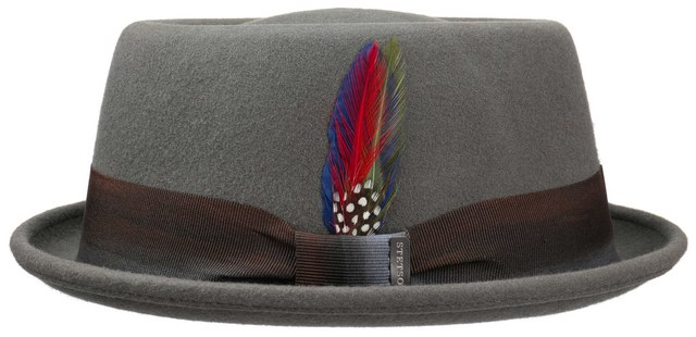 Stetson pork pie Avana woolfelt hat Grey