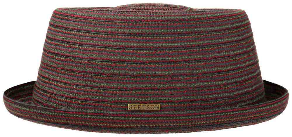 Stetson Chapeau Pork Pie Stripe Braid