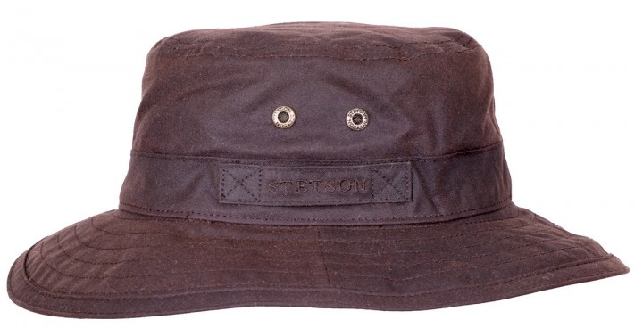 Atkins Waxed Cotton Bucket Hat Stetson waterpr
