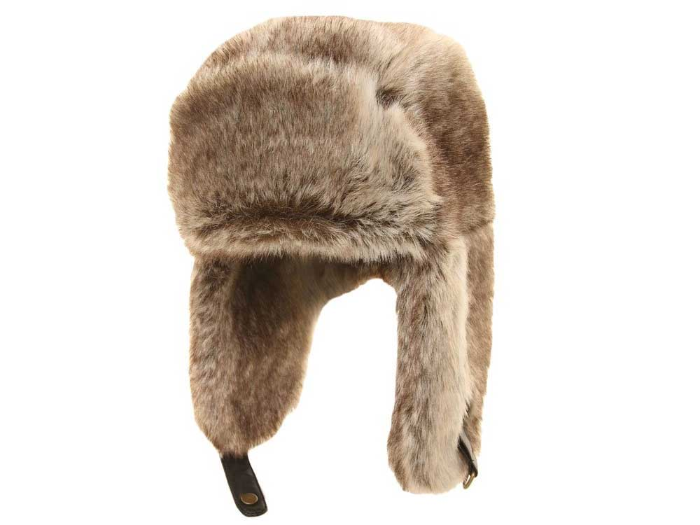 Polar Trapper Hat ecological fur light brown
