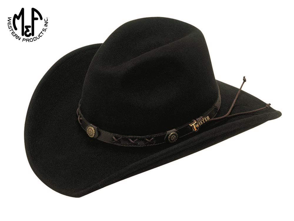 Twister Hats wool felt Western Dakota hat