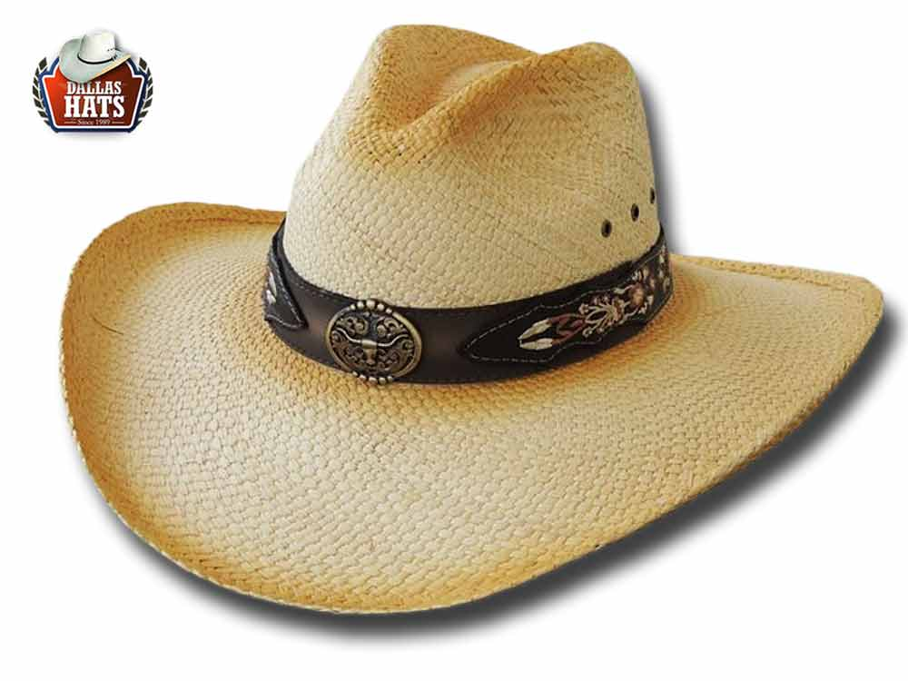 Dallas Hats Cappello Western paglia D West 8
