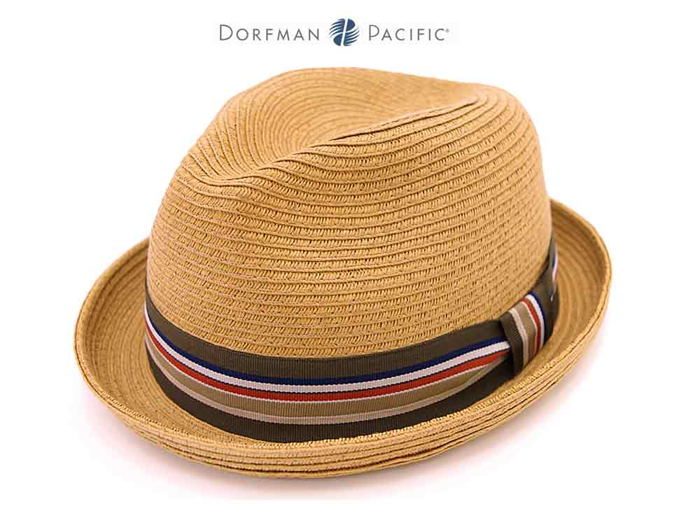 Dorfman Pacific Trilby Memphis hat light brown