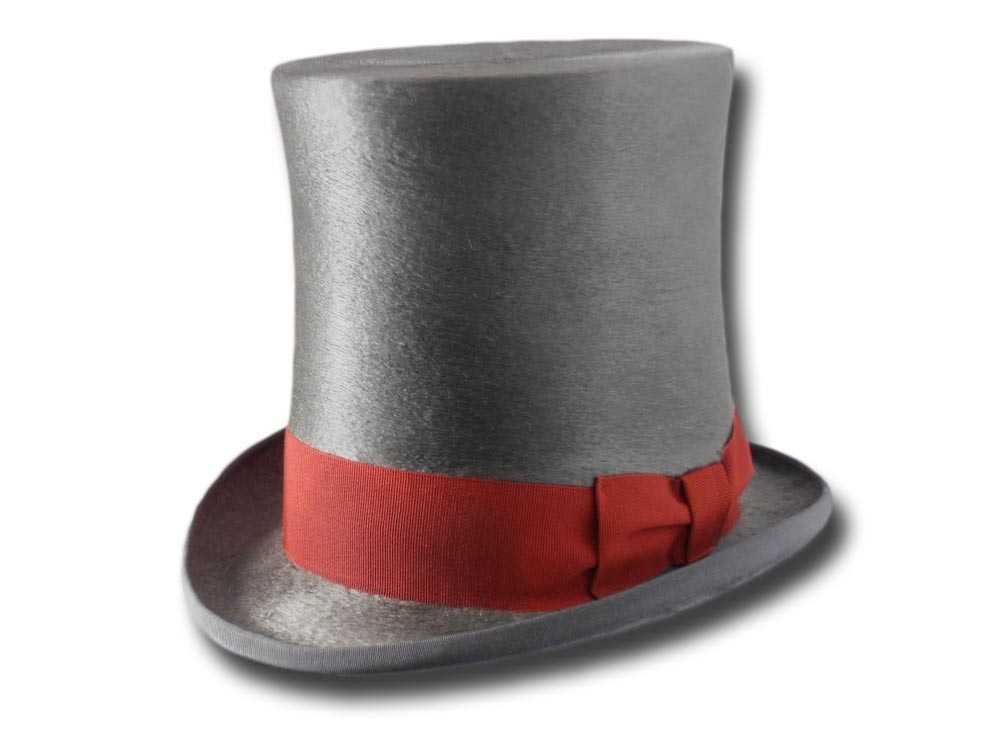 Fur felt Melousine Top Hat Grey