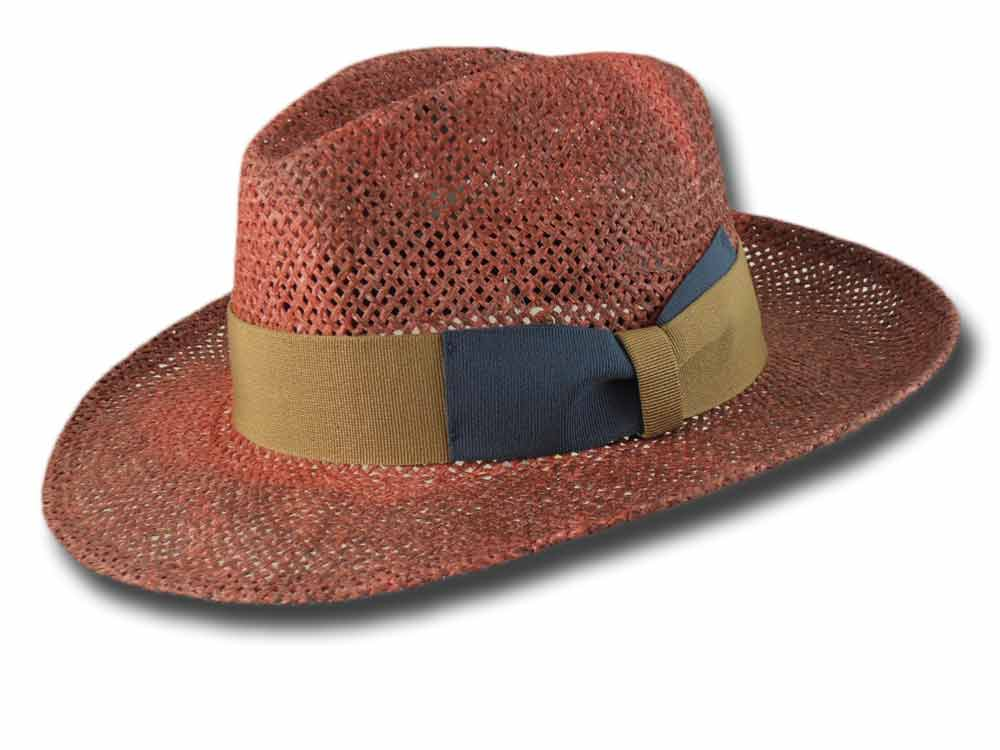 Melegari Fedora papier hat Donny Red burgundy