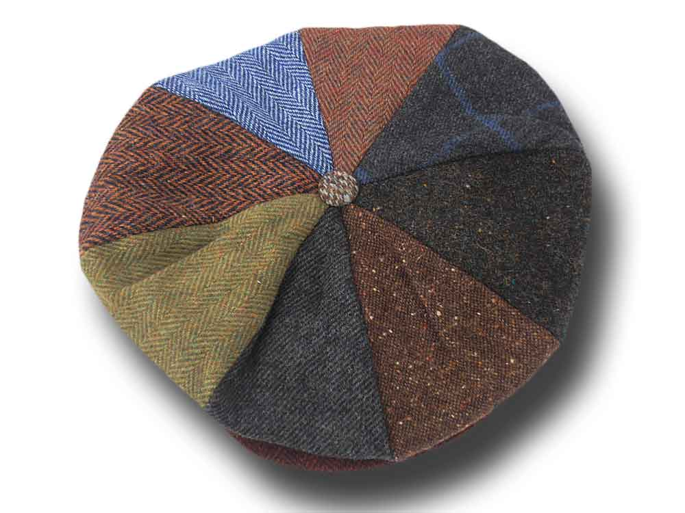 Berretto irlandese a 8 spicchi lana Hanna Hats Gatsby Patchwork