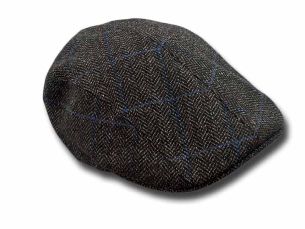 Melegari Wool Herringbone Duck cap Brown