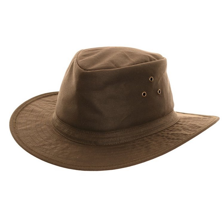 Waxed cotton Aussie Hat by Hawkins Australian