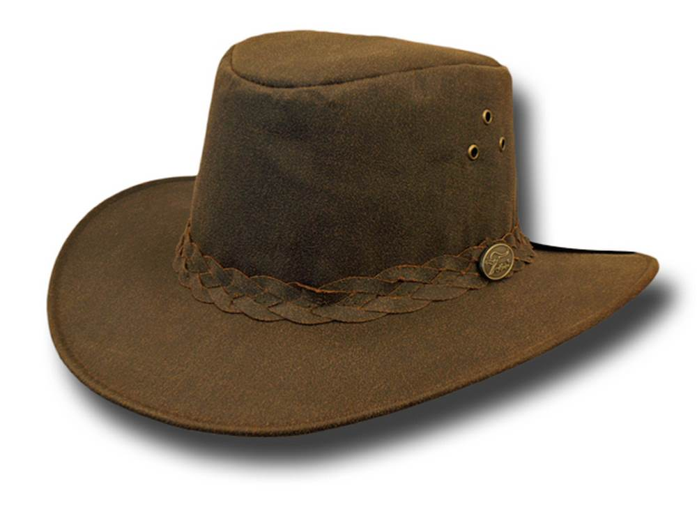 Waxed cotton hat Aussie Hat by Hawkins Canberr