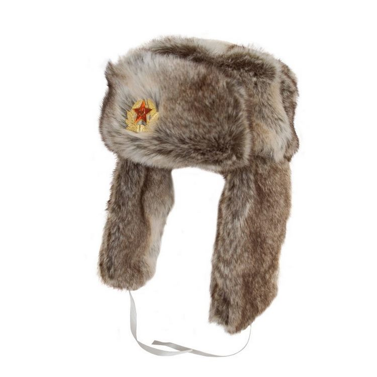 Trapper Ushanka hat fur ecological