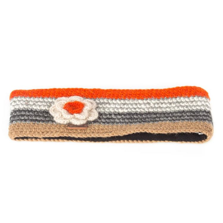 Kusan London Bandeau Crochet Taupe Orange