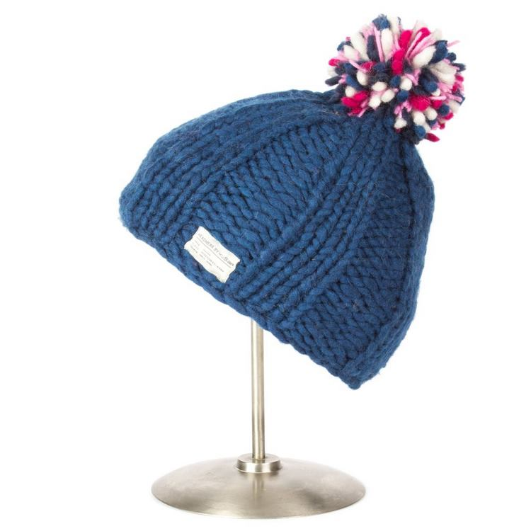 Kusan London Bonnet à Pompon en laine Multi B