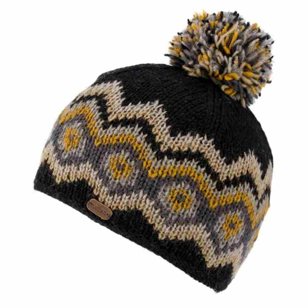 Kusan London Bonnet en laine Big Diamond Bobbl