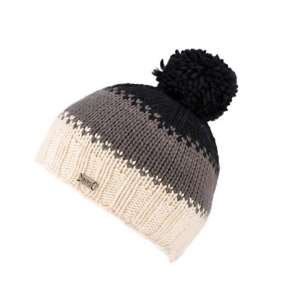 Kusan London Berretto lana Luxury Bobble Black