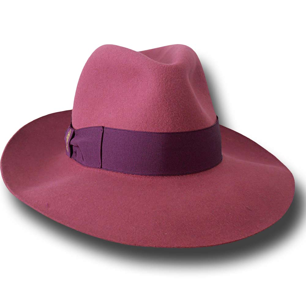 Borsalino Woman Hat Lavinia Dark rose
