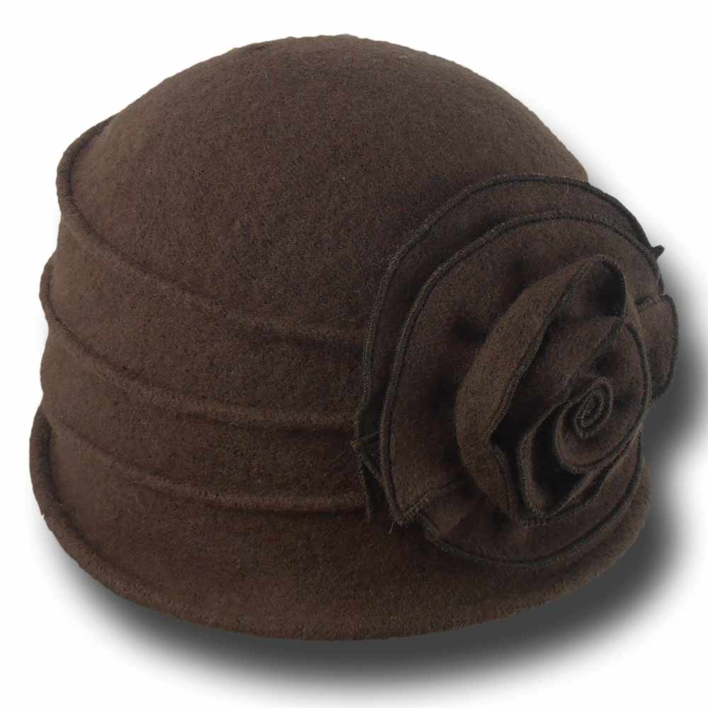 Melegari Women Cloche wool hat Paris 6e2a4b9462ac