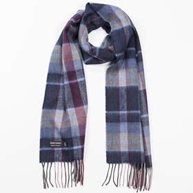 John Hanly Merino wool Irish tartan scarf