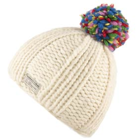 Kusan London wolle mütze Multi Bobble