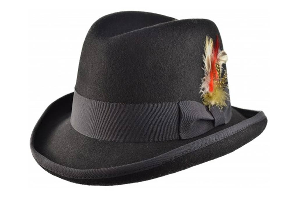 Major Homburg Western wool felt hat
