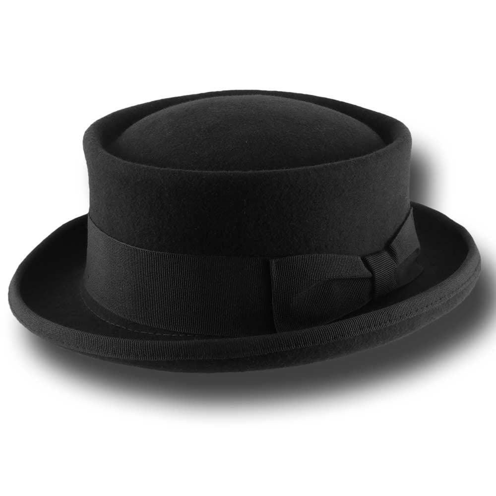 Melegari Cappello uomo Pork Pie lana Curled b7f247b69443