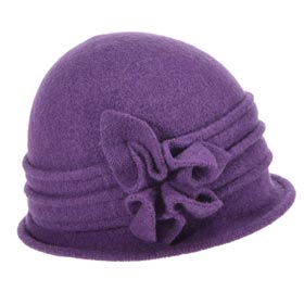 Seeberger Woman wool cloche hat