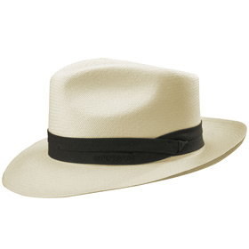 Stetson Cappello Fedora Panama bleached