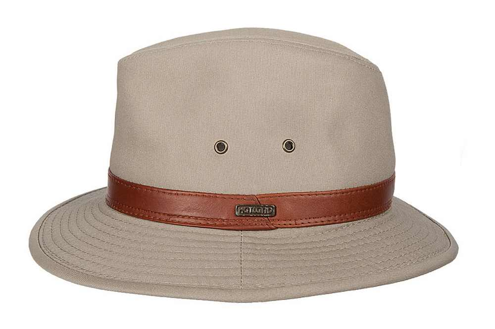 Hatland Cappello in cotone Bush Walker Beige