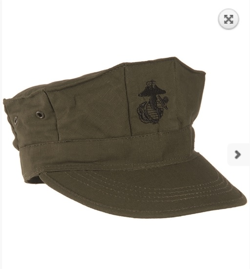 US OD MC field cap