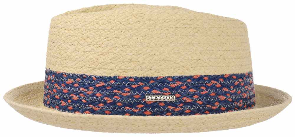 Stetson Chapeau pork pie Player en paille (rap