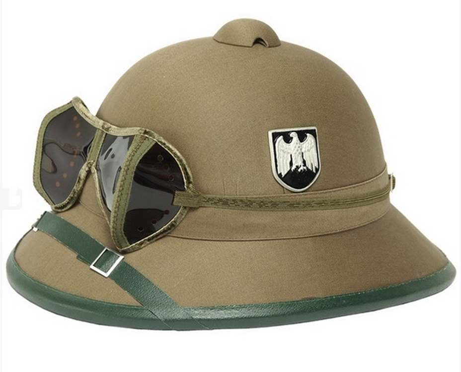 Pith Helmet AK TROPIC with glasses Green