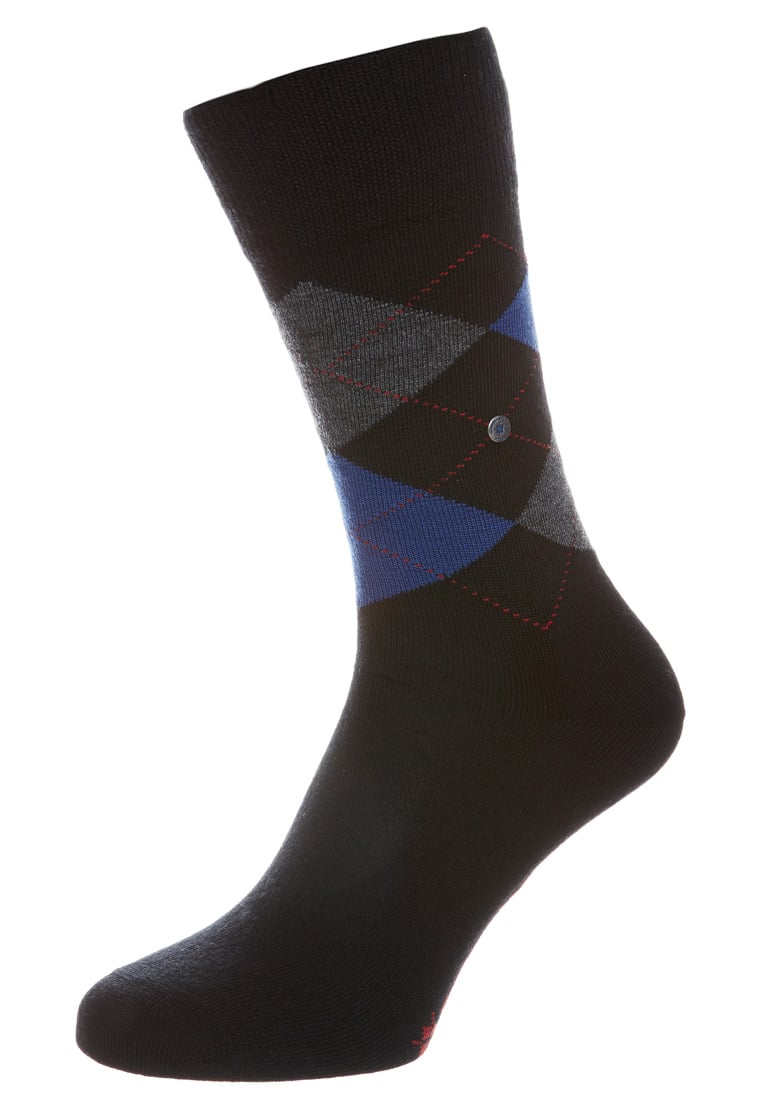 Wollsocken mann Edinburgh Burlington Schwarz