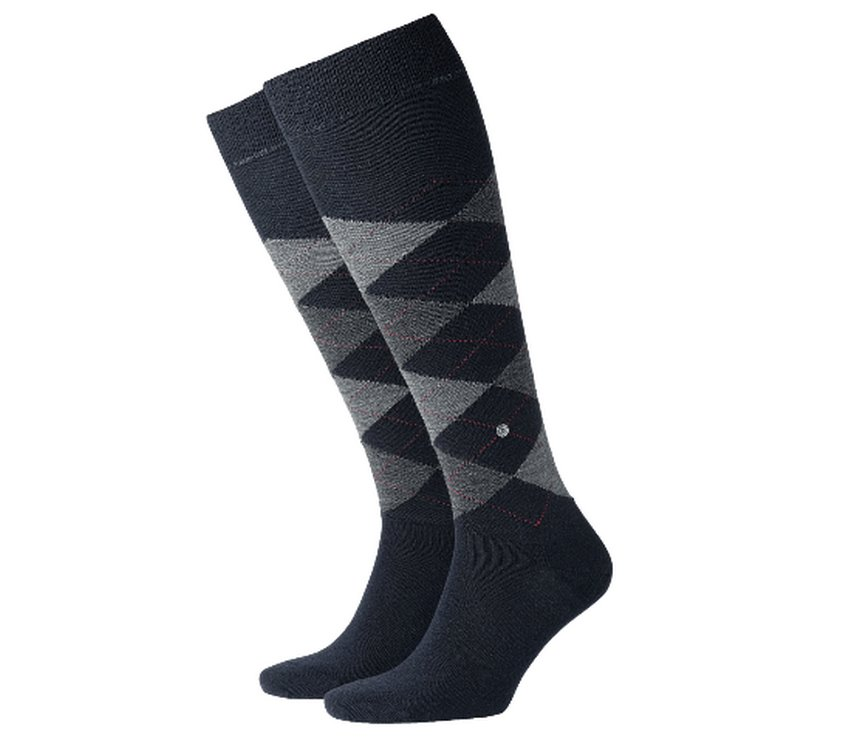 Wool socks man Edinburgh Burlington Blue-grey