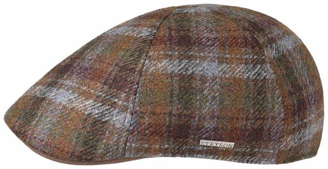 Stetson Texas Check wool-cashmere flatcap Brow