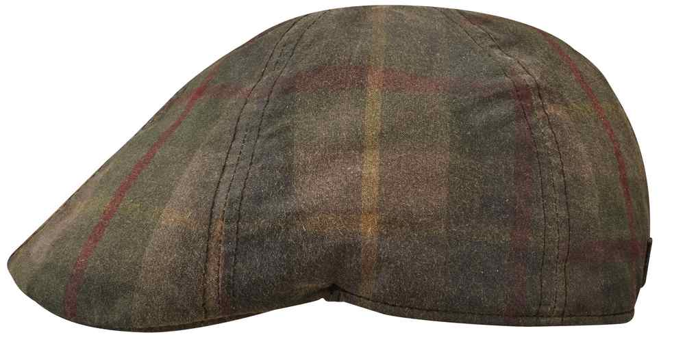 Stetson Texas waxed tartan cotton Gatsby Cap