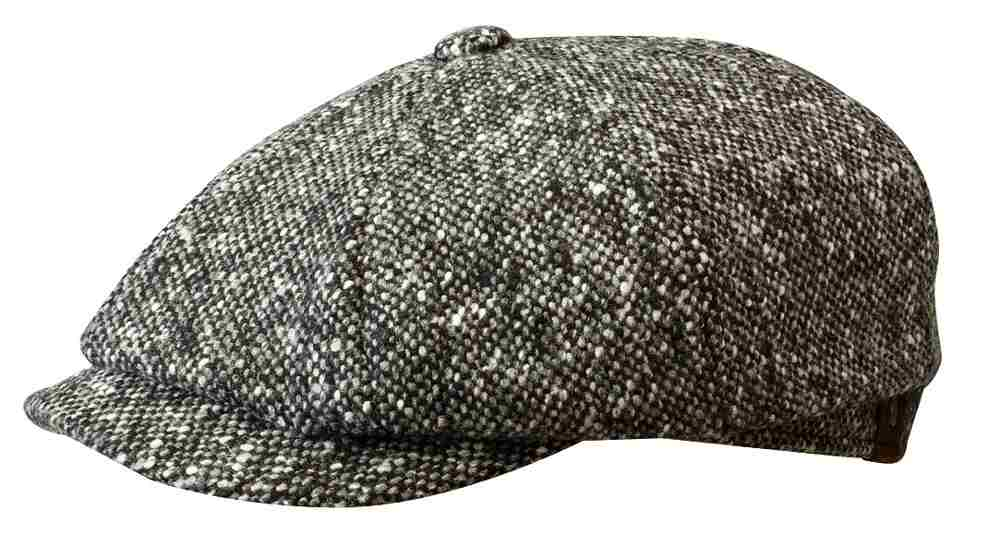 Stetson Hatteras Donegal Flatcap Schwarz Melan 9e27814be84b