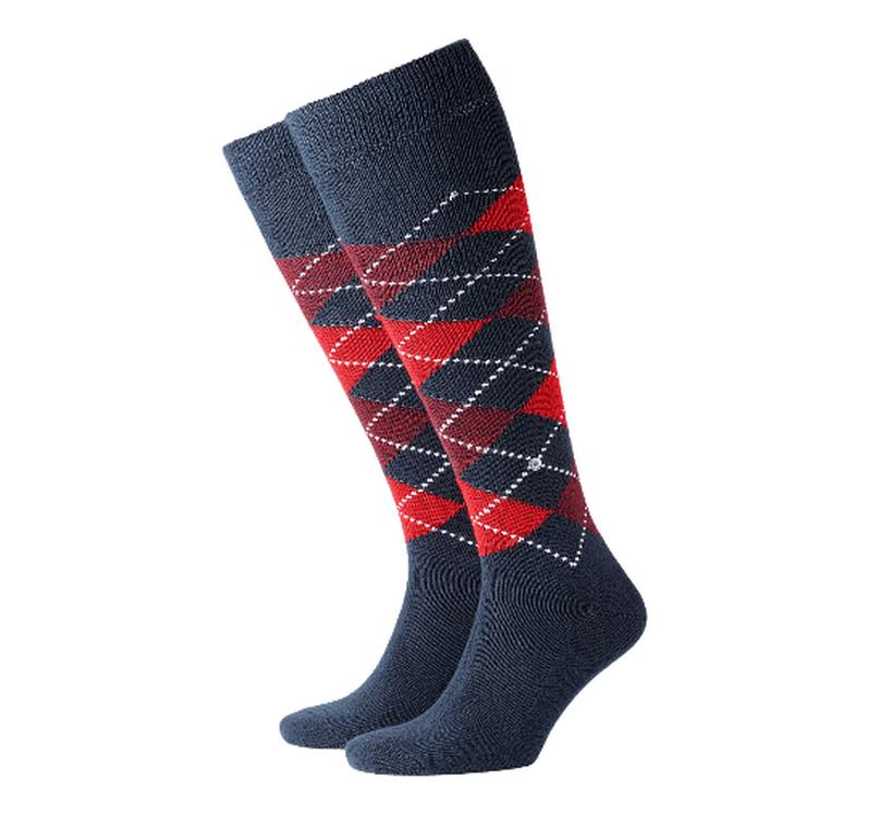 Socks man Preston Burlington Red Blue