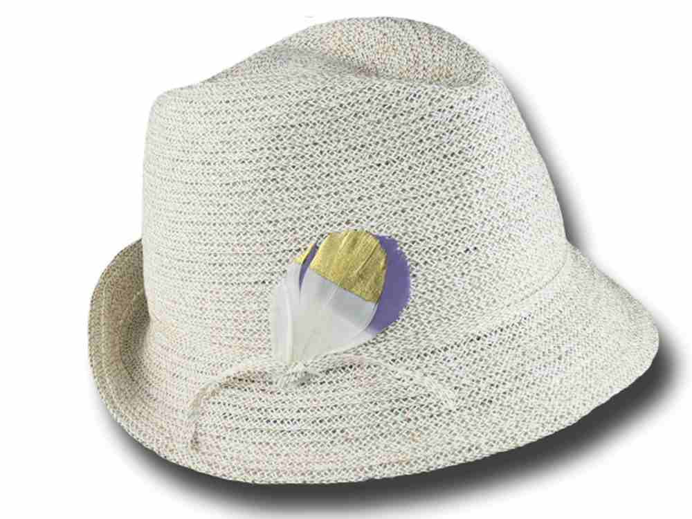 Trilby hat summer woman Marzi Annette White