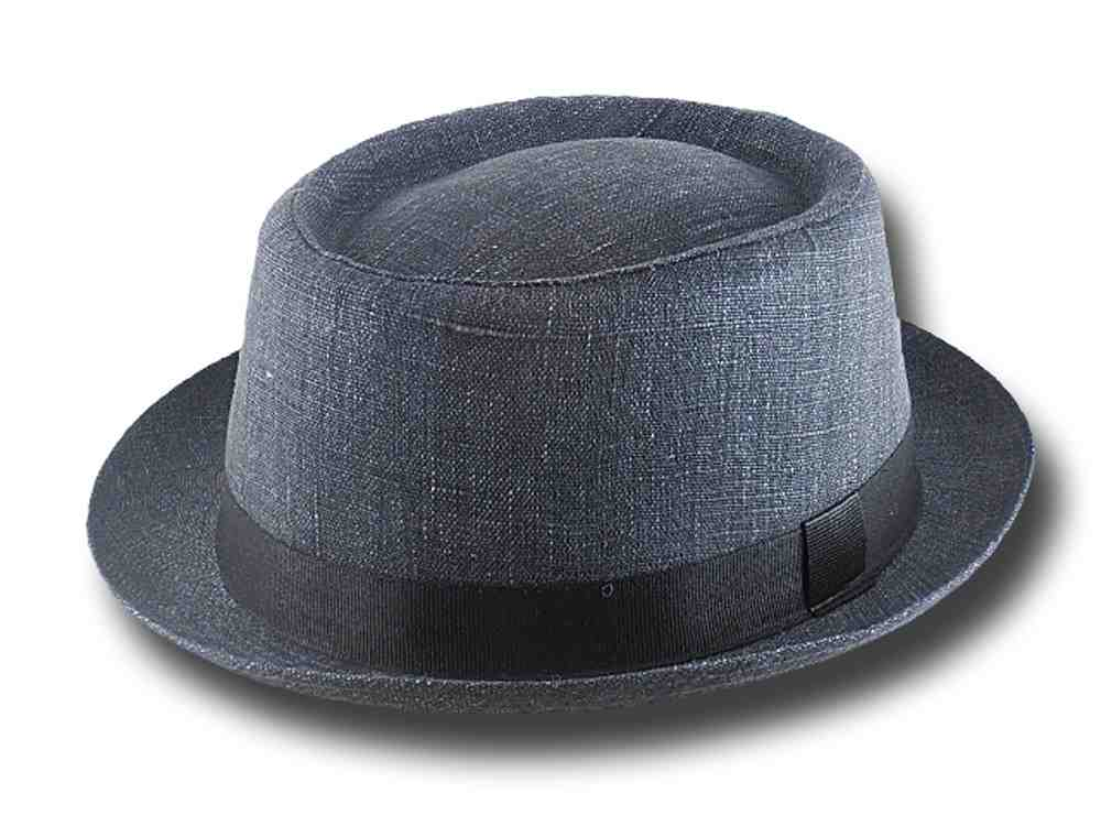 Cappello estivo in lino Pork Pie Jazz Hat Grigio scuro
