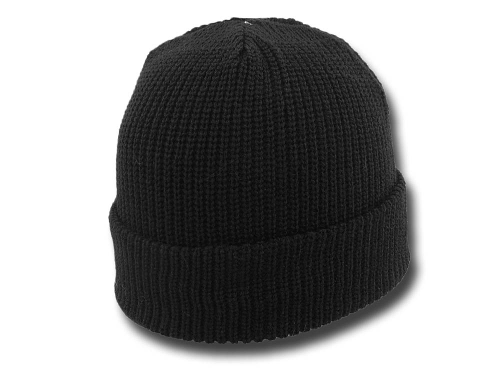 Soft Acrylic Beanie hat Black