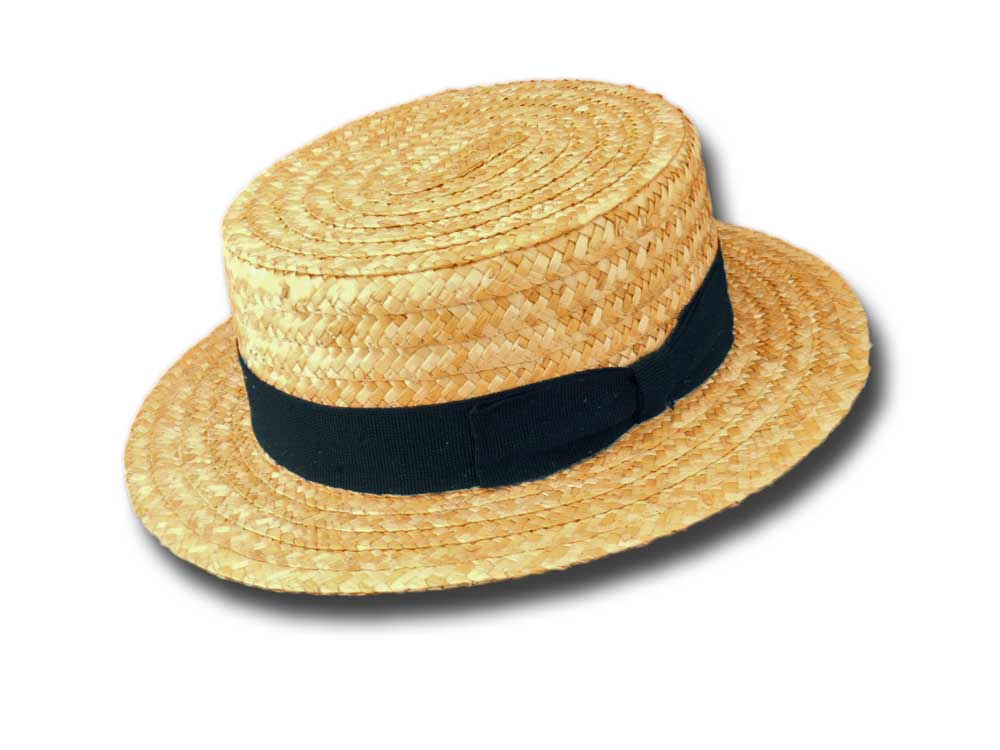 Boater Straw Hat unisex for children