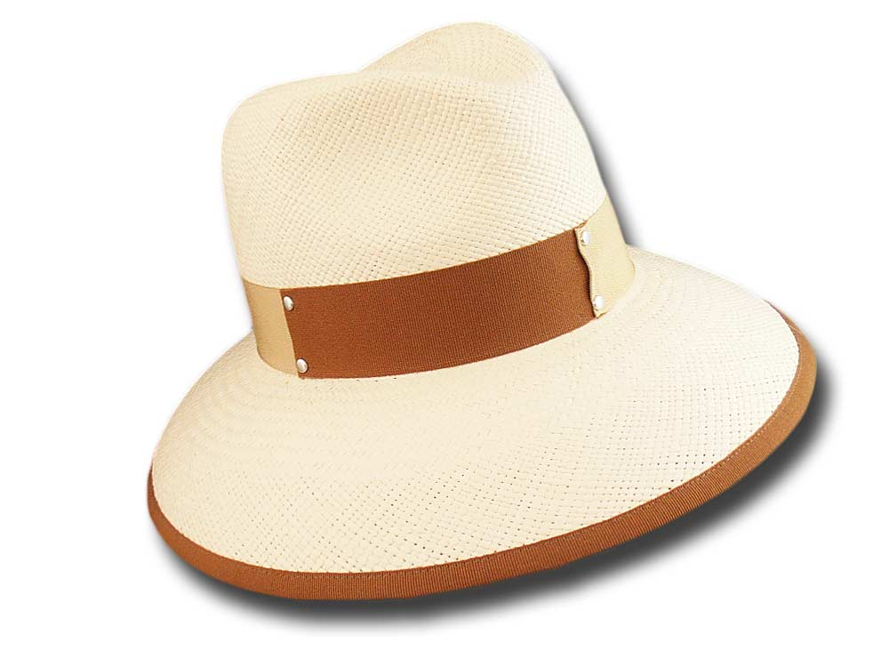 Marzi summer woman Panama hat Orly light brown