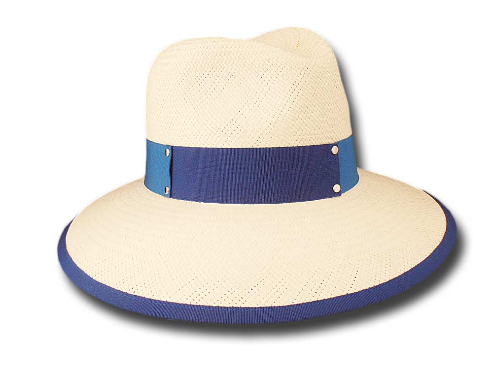 Marzi summer woman Panama hat Orly blue