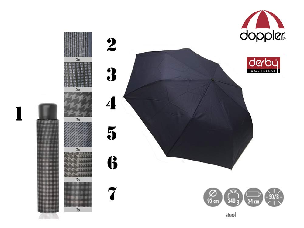 Doppler Umbrella manual open Primo Printed